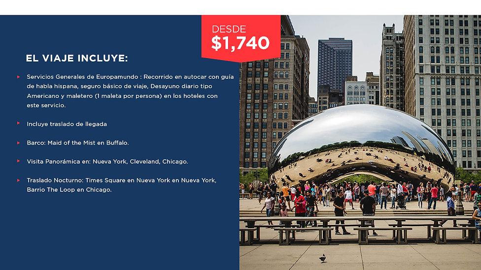 De Nueva york a Chicago Turista con NY1.