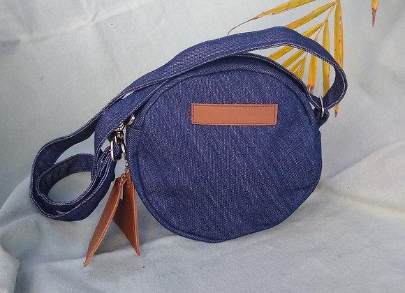 Bolsa Redonda Jeans Azul