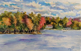 View from the Boat Launch, Racquette Lake