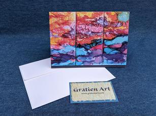 Ocean Sunset Note Card