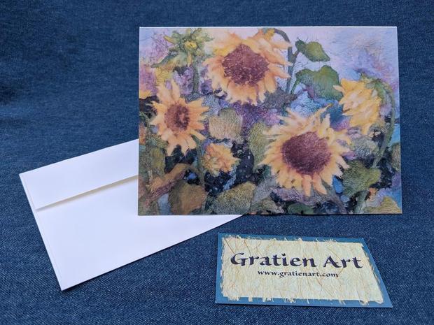 Golden Sunflower Note Card