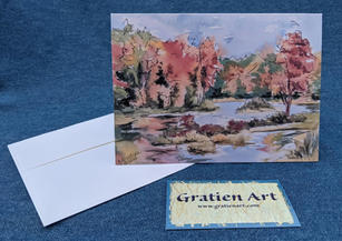 View from Green Bridge Note Card
