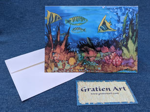 Coral Reef Adventures Note Card
