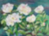 Festiva Maxima Peonies collage painting