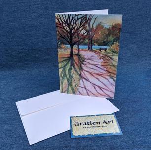 Autumn Shadows Note Card