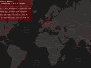 El mapa, elaborado por Comparitech, nos permite ver los ataques de ransomware en tiempo real