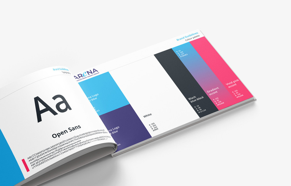 Brand guidelines - Arena