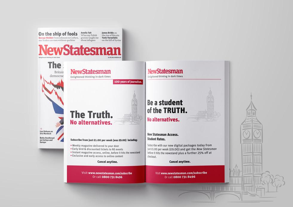 NewStatesman print ads