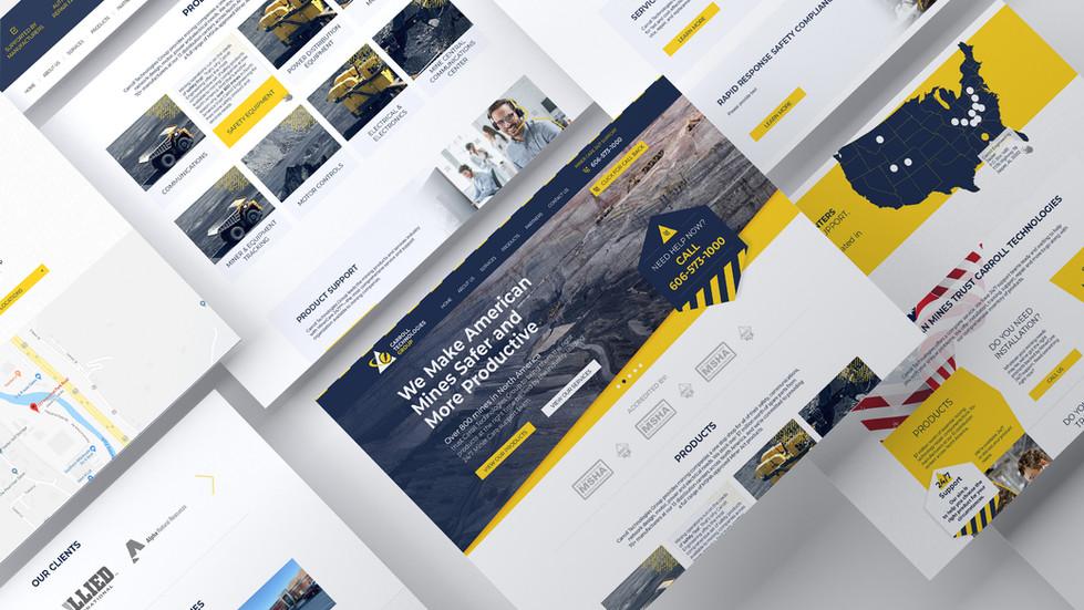 Website, corporate design for Carroll Technologies