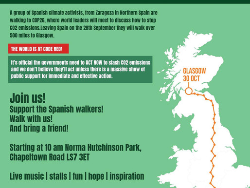 Spanish Climate Campaigners March to Glasgow via Chapeltown