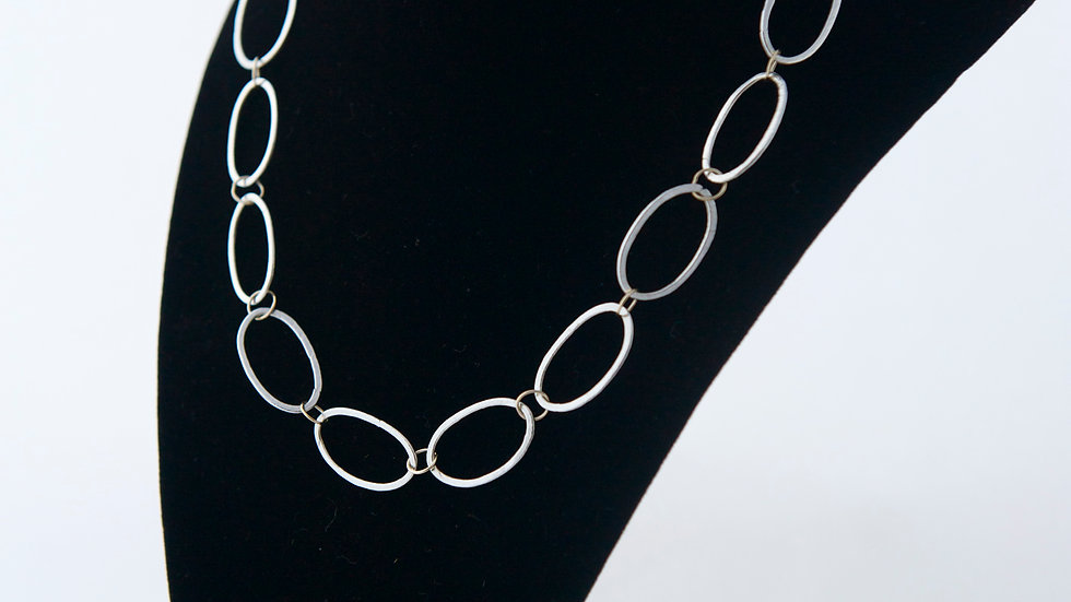 Fine Silver Link Necklace