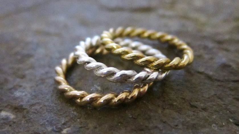 Twisted Wire Ring Set