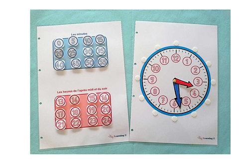 Horloge d'apprentissage Montessori
