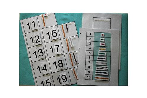 Les nombres de 11 à 19 (Pédagogie Montessori)