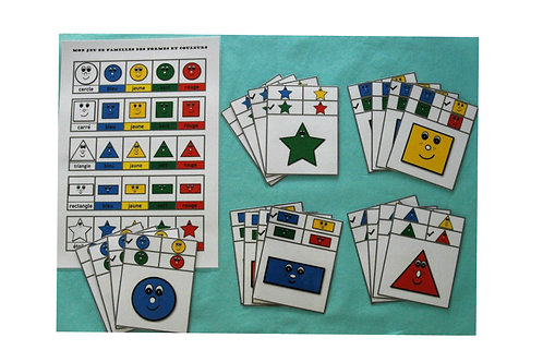 Mon jeu de familles des formes et couleurs