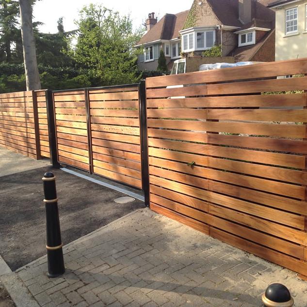 Hardwood Fence panels