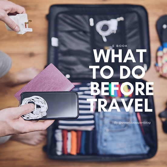 What to do before travelling - E-Book