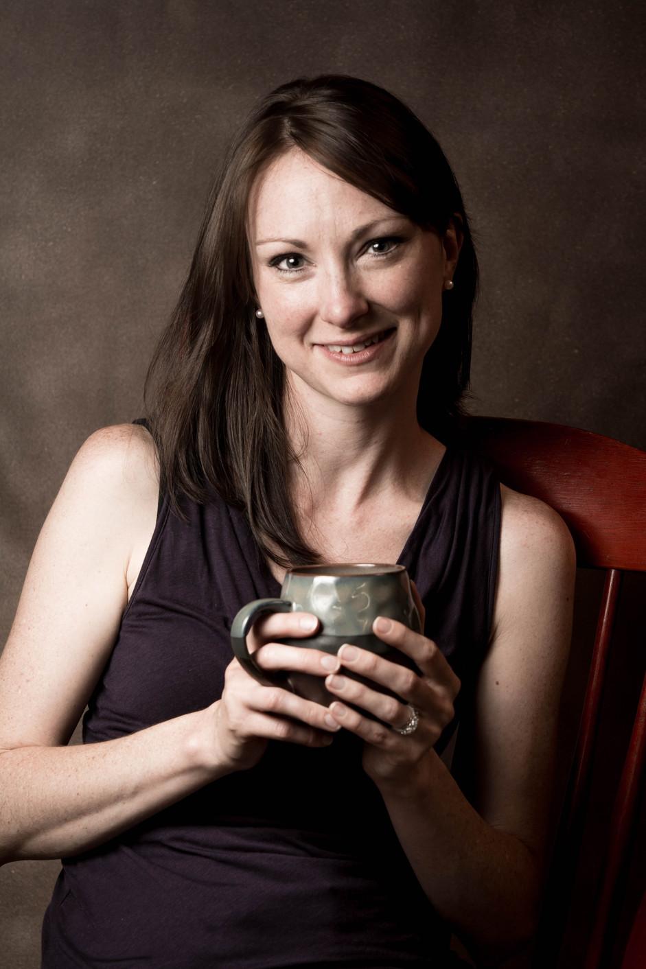 woman coffee portrait photography