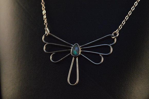 1.5 carat Australian opal with a Split chain