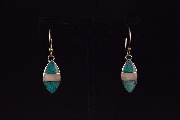 Amazonite and Moonstone Inlay earrings
