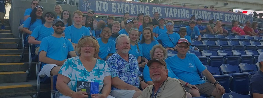 Blue Wahoos with the Cavett Kids