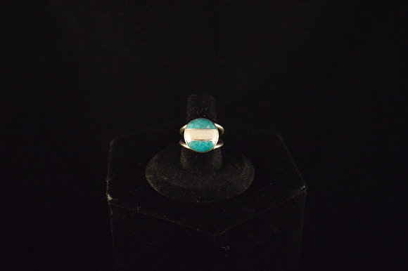Amazonite paired with Moonstone ring