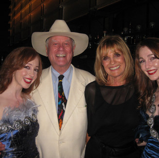 Sephira with Larry Hagman and Linda Gray