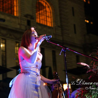 Joyce from Sephira singing in Bryant Park