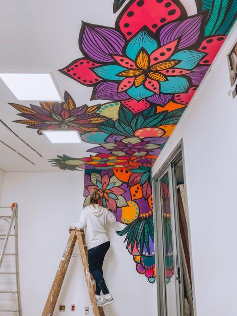 florais parede e teto