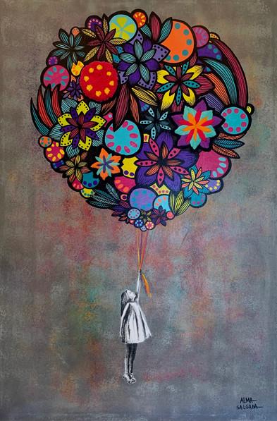 a menina do balão