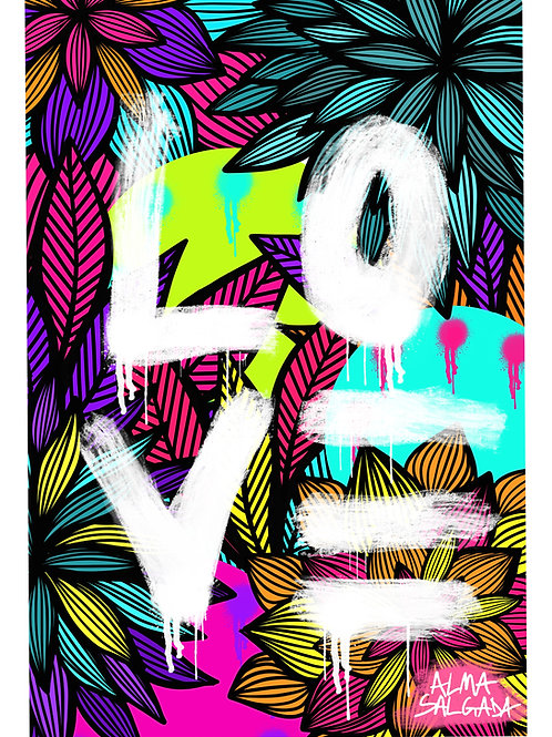 Print Garden Love
