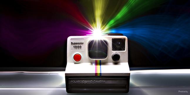 Polaroid en light painting