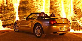 Light painting avec une BMW