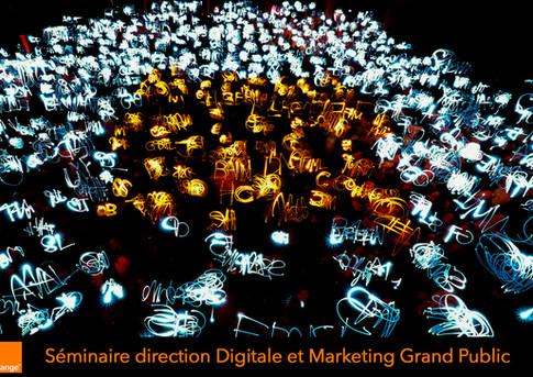 Logo humain lumineux pour Orange