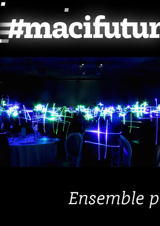 Lightpainting géant pour MACIF