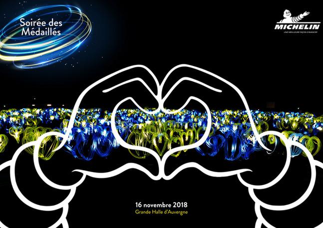 Logo humain lumineux pour Michelin