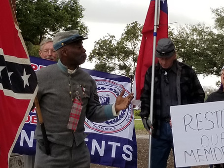 PAST NAACP PRESIDENT MARCHES FOR CONFEDERATE MEMORIAL IN LAKELAND WEDNESDAY