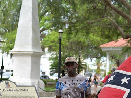 AFRICAN-AMERICAN NAACP PRESIDENT SUES ST. AUGUSTINE TO KEEP CONFEDERATE MONUMENT