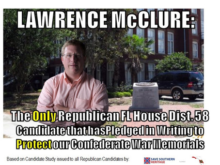Southern Heritage Statement Concerning McClure GOP Primary Victory