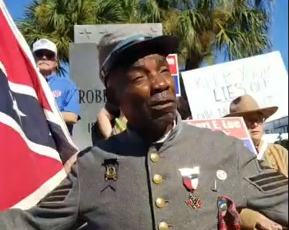 HK Edgerton Leads Protest in Ft. Myers