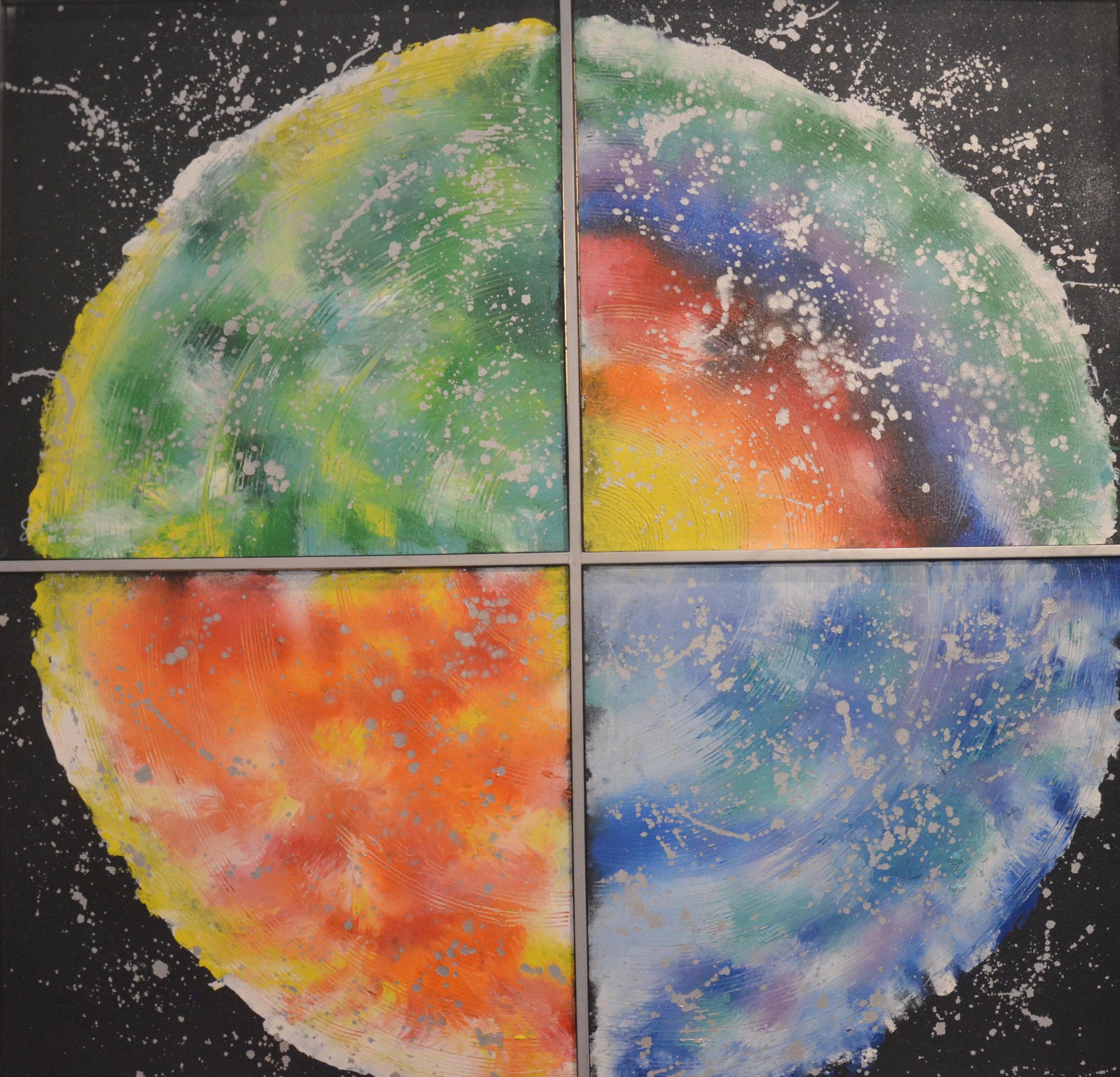 Galaxy Quad Canvas