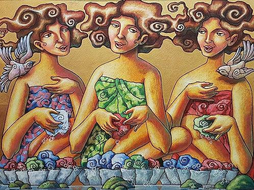 """Lavandera"" by Lawton Ladao"