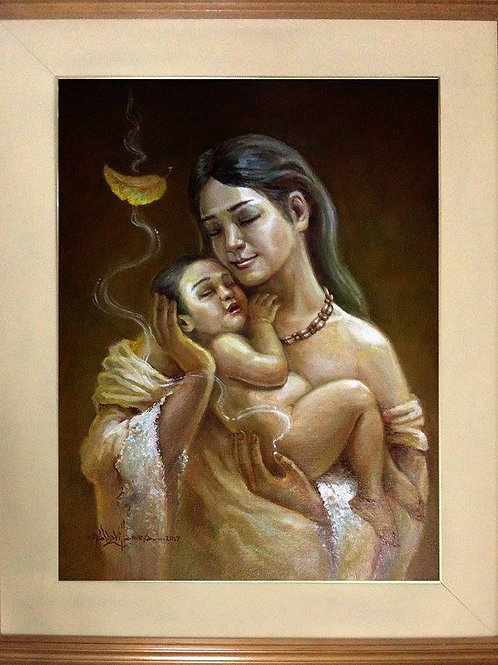 """Mother and Child Series"" by Waldz Villanueva"