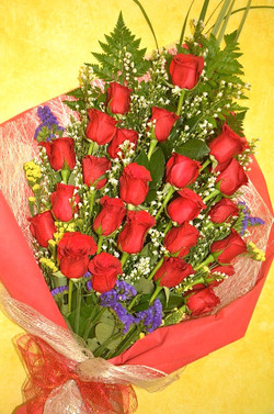 Bouquet of local red roses