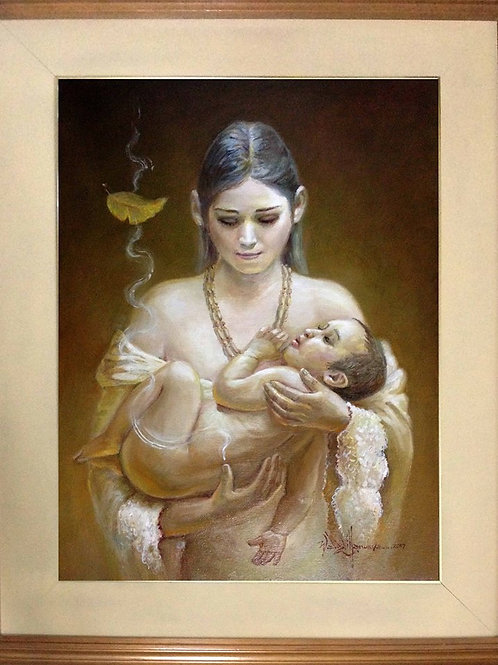 """Mother & Child"" by Waldz Villanueva"
