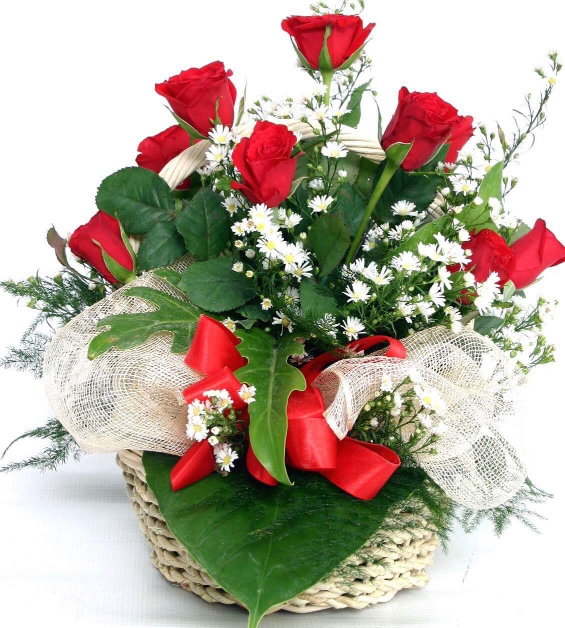 Basket of local roses