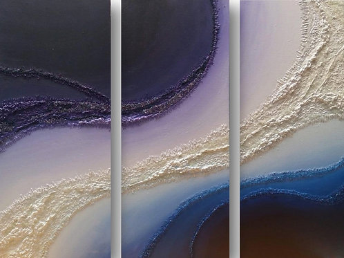 """""""Coalesce"""" (Triptych) by Steph Cabañes"""