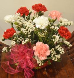 Basket of Carnations