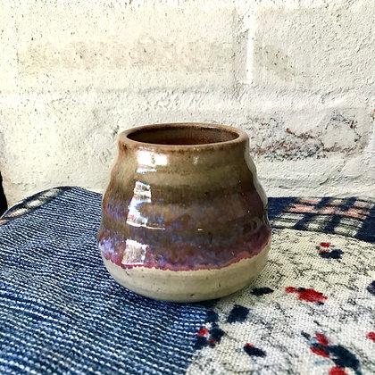 Narrow Bumpy Purple Pot