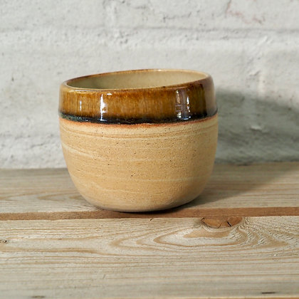 Drippy Brown Agate Cup